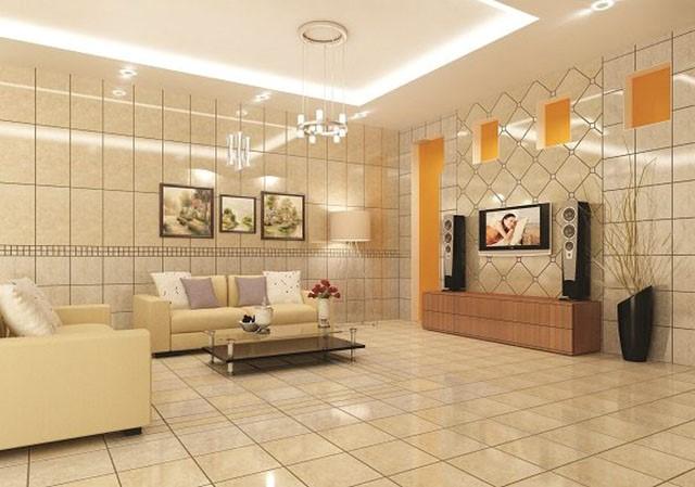 Cách chọn màu gạch ốp tường phù hợp cho phòng khách B1