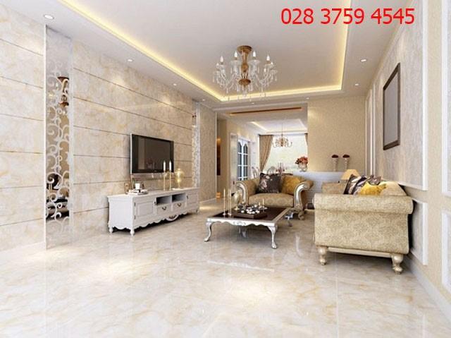 Cách chọn màu gạch ốp tường phù hợp cho phòng khách B2